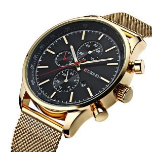 Мъжки часовник CR8227-Златист / Черен