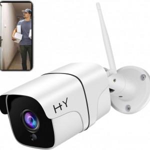 1080P FHD външна Wi-Fi камера, 2.4G WiFi безжични H + Y , HD камера за нощно виждане IP, камера за сигурност, откриване на движение