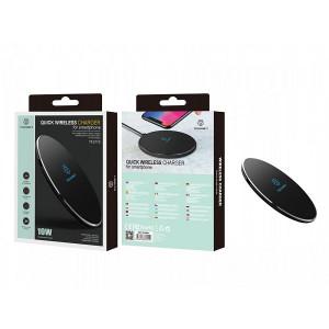 Încărcător wireless cu încărcare rapidă 10W negru / argintiu, PMTF360213