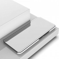 Samsung Galaxy S20 PLUS Book Cover Clear View Stand - сребрист калъф