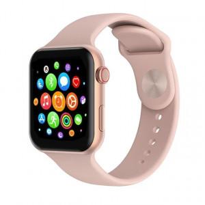 Smartwatch T500, сърдечен мониторинг, кръвно налягане, Bluetooth 4.2, розов, T500-РОЗОВ