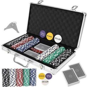 Texas Strong 300 Jetoane Set de poker + Valiză 9554, PM000095543