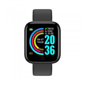 Умен часовник Y68, Fitness Tracker, Bluetooth, Черен