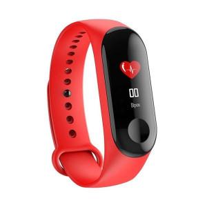 Умна гривна Smart Fitness Tracker M3X- червена
