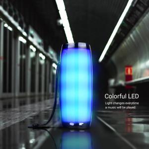 Bluetooth 157 стерео високоговорител, преносим, FM радио, USB, Aux, TF карта, многоцветна околна светлина