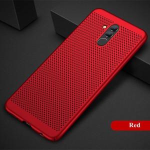 Huawei Mate 20 LITE- кейс с качествена текстура за охлаждане на устройството - Air Spots червен