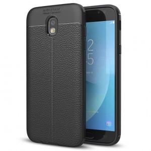 Samsung Galaxy J5 (2017) - Защитен черен калъф TPU Texture Mix