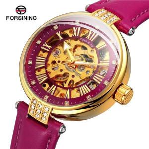 Автоматичен дамски часовник Skeleton Forsining FOR9052-V5