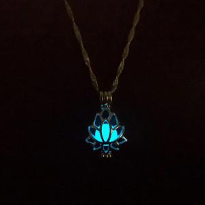 Дамска огърлица Lotus - син цвят COL156-V1