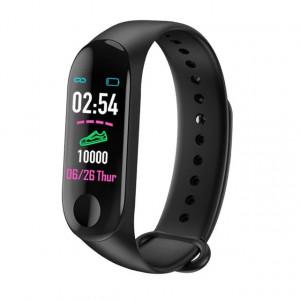 Умна гривна Smart Fitness Tracker M3X-черна