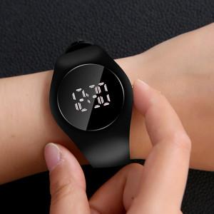 Унисекс Led спортен часовник, Кварцов, Цифров дисплей, 40 мм, Черен, LED101