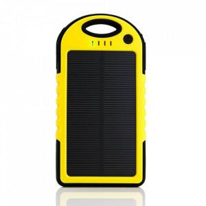 10000 mAh Бързо зарядно слънчево зарядно устройство с фенерче - жълт