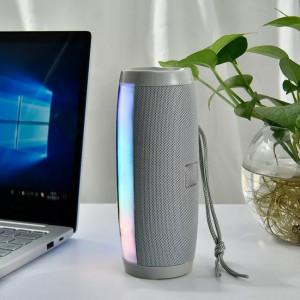 Boxa stereo Bluetooth 157, Portabila, Radio FM, USB, Aux, TF Card, lumina ambientala multicolora