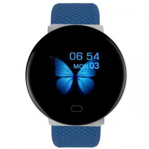 Bratara Fitness Smartband D19, Impermeabil IP65, Incarcare USB, Bluetooth 4.0, Display Touch Color OLED, Albastru