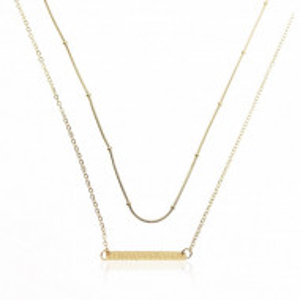Colier fashion, placat cu aur 14K, PMNST12543