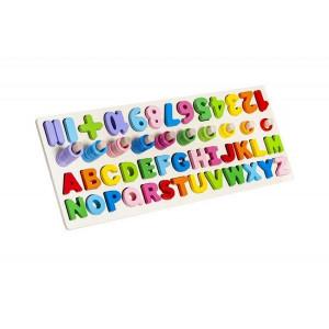 Jucării din lemn pentru copii, numere si litere, PM000109793
