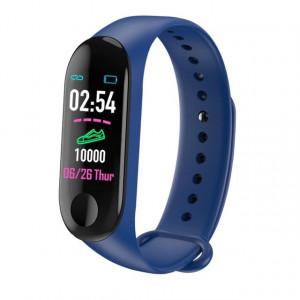 Гривна Smart Fitness Tracker M3X-син цвят