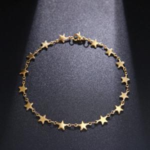 Дамска гривна, stars - златиста BR320-V2