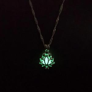 Дамска огърлица Lotus - зелена COL156-V2