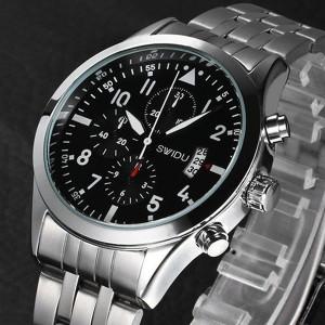Мъжки часовник Swidu SWI-050 - ЧЕРЕН