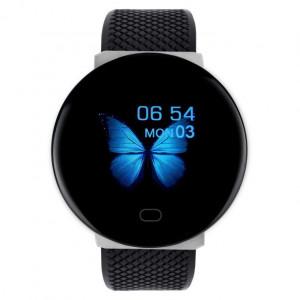 Bratara Fitness Smartband D19, Impermeabil IP65, Incarcare USB, Bluetooth 4.0, Display Touch Color OLED, Negru