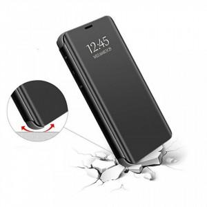 Samsung Galaxy S20 ULTRA Book Cover Clear View Stand калъф, черен цвят