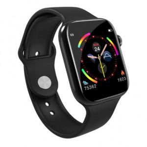 Smartwatch T500, сърдечен мониторинг, кръвно налягане, Bluetooth 4.2, черен, T500-ЧЕРЕН