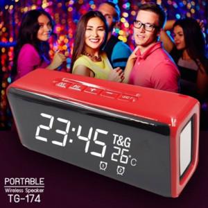 TG-174 Преносима тонколона с цифров дисплей, часовник, термометър, радио, MP3, Bluetooth, USB, TF-карта