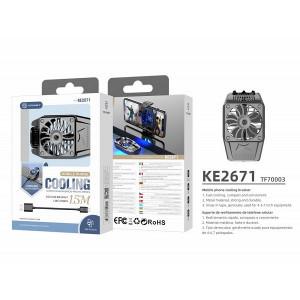 Ventilator universal de răcire pentru telefonul mobil, negru, PMTF700033