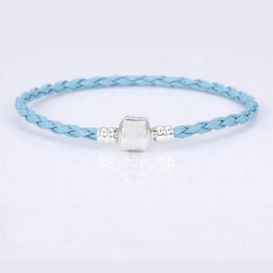 Дамска гривна, кожена- син цвятBR314-V2