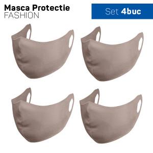Комплект защитна маска за лице Fashion - 4 бр. , Бежов цвят
