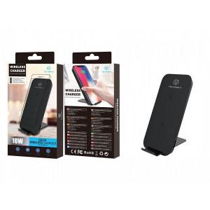 Încărcător wireless cu încărcare rapidă cu 10W negru / argintiu, PMTF360223
