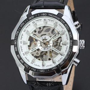Автоматичен мъжки часовник Winner D170-Бял