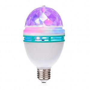Ротационен многоцветен проектор LED RGB 3W E27