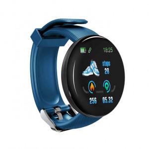 Умна гривна Fitness Smartband D18 Waterproof IP65, USB, Bluetooth 4.0, Display Touch Color OLED, Син цвят