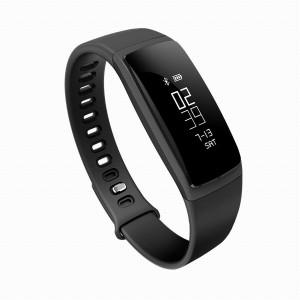 Фитнес гривна V07 + Pro, BT 4.0, водоустойчивост, ip67, динамичен мониторинг на пулса, Android, iOS, входящи повиквания, sms, вибрация, черен цвят