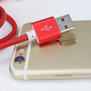 Cablu Date USB din Piele Naturala pentru iPhone 5/5s/6/6S/Plus/iPadmini Cu Incarcare Rapida Premium