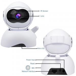 Camera de Supraveghere Interior IP Pan/Tilt Smart Wireless Wi-Fi , HD, QZT