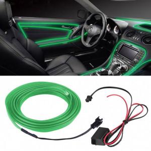 Fir electroluminescent neon El Wire, 5M, Verde