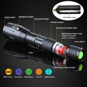 Lanterna super Tac Light cu intensitate 5000 LUX