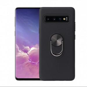 Samsung Galaxy S10 - Husa Neagra Din Policarbonat Premium cu Inel Rotativ