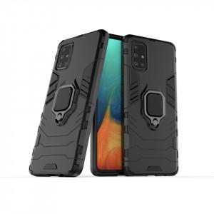 Samsung Galaxy S20 PLUS Military черен калъф с пръстен