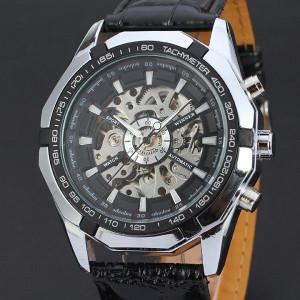 Автомаичен мъжки часовник Winner D170-Черен