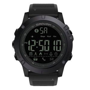Мъжки часовник Sport Led Digital SPOVAN Bluetooth 50м водоустойчив - черен