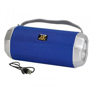 Boxă portabilă cu lanternă, Radio FM, Albastra, AK-318