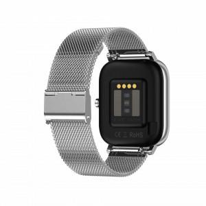 Ceas inteligent (smartwatch) DT-35 cu difuzor si microfon incorporat, curea metalica, ecran cu touch 1.54 inch color HD, moduri sport, pedometru, puls, notificari, metal grey