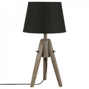 Lampa cu abajur conic, negru, PM1308043