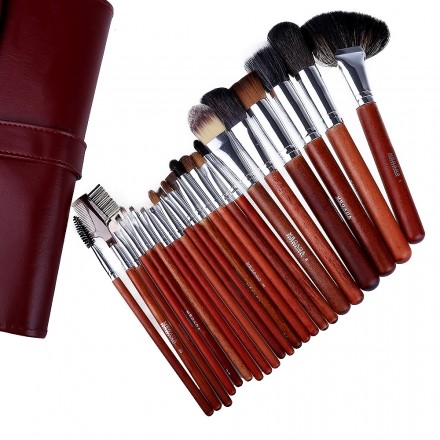 Set 22 Pensule Machiaj Make Up Profesionale Par Natural Cu Borseta