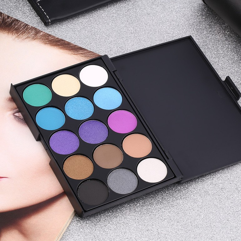 Trusa Machiaj 15 Culori Profesionala Paleta Farduri Cosmetice
