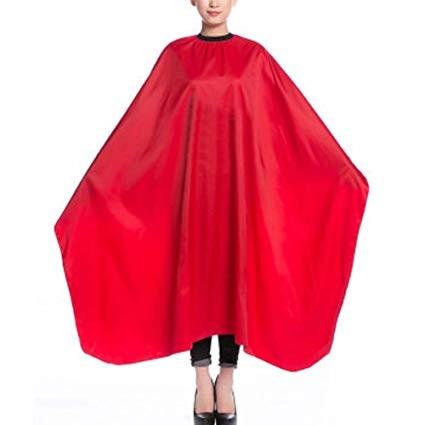 Pelerina manta pentru tuns rosie frizerie coafor